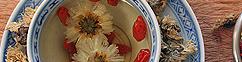 Chrysanthemum thee met goji bessen