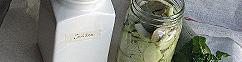 Chinese groene radijs op azijn