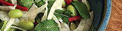 Jonge sojabonen salade met een Aziatische dressing