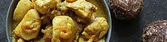 Taro met kip en gedroogde garnalen