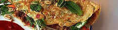 Omelet met gedroogd varkensvlees