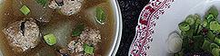 Tong kwa soep met umami gehaktballetjes