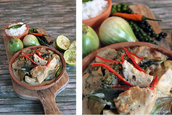 Thaise groene curry op tokotheek