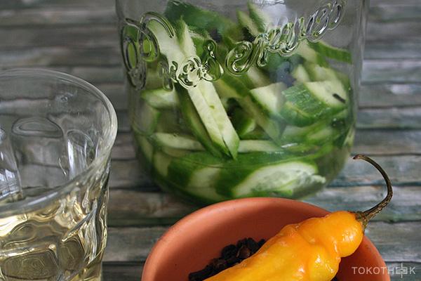 komkommer op azijn