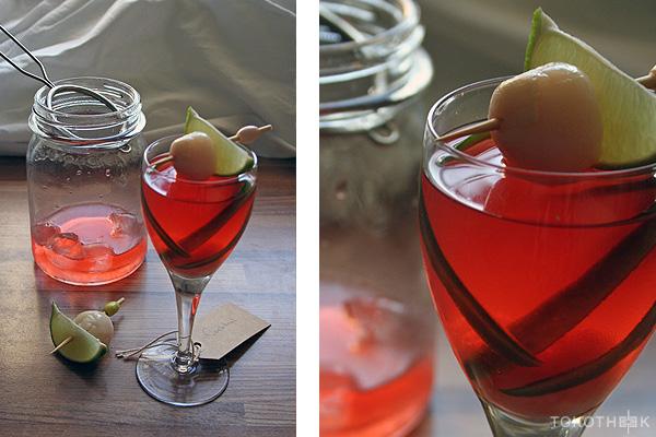 Mei Kuei Lu Chiew cocktail met lychee en rozensiroop op tokotheek
