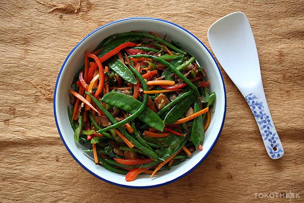 Geroerbakte groenten in XO saus