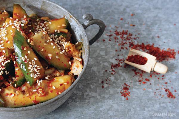 komkommer kimchi op tokotheek