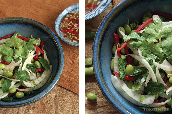 jonge sojabonen salade op tokotheek edamame salade op tokotheek