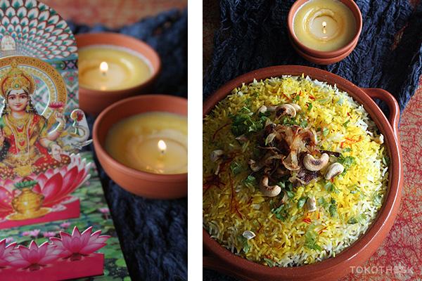 divali 2016 biryani vegetarische biryani op tokotheek