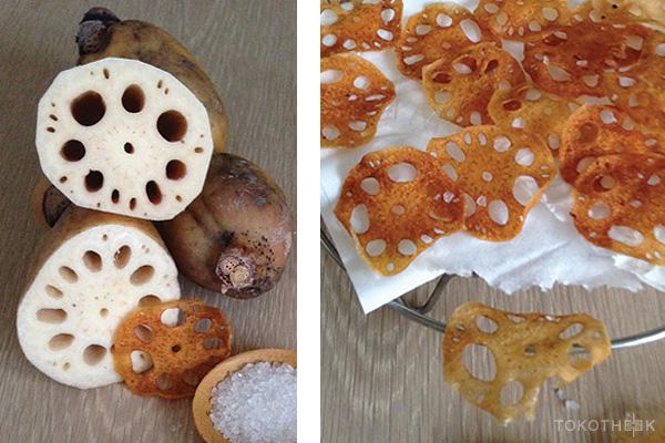 lotuswortel chips op tokotheek