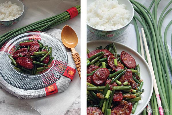 suen sum met fa chong chinese knoflookstengels met fa chong op tokotheek