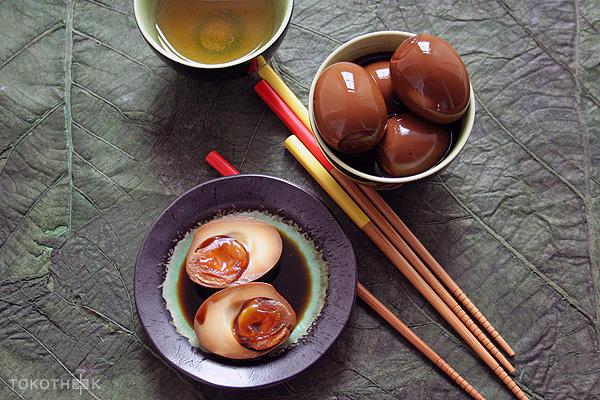 Japanse gamarineerde eieren gemarineerde eieren op tokotheek