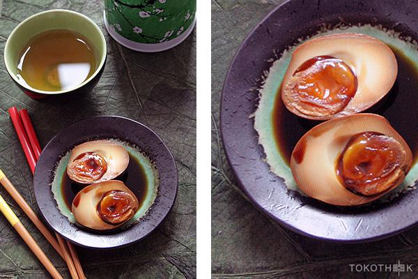 Japanse gemarineerde eieren gemarineerde eieren op tokotheek