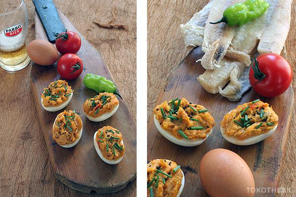 gevulde eieren met bakkeljauw