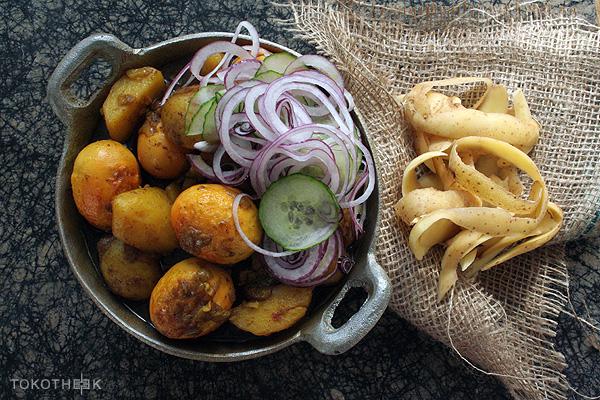 ei en aardappel in masala, anda aloe