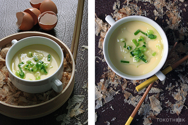 gestoomde eieren in dashi