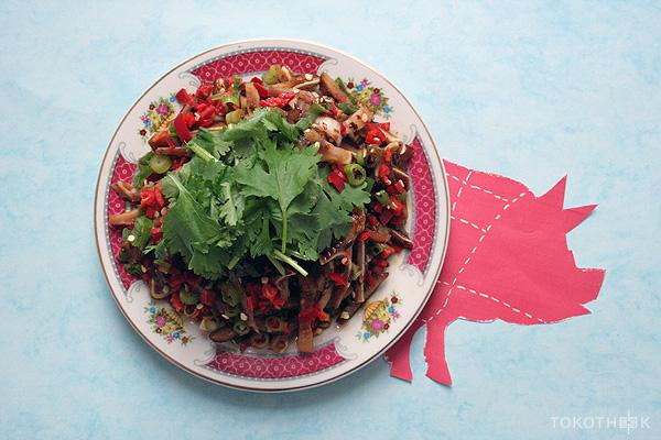varkensoor salade