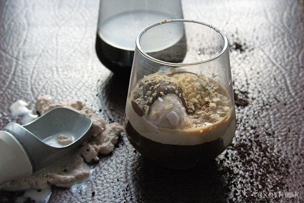 Vietnamese ijskoffie met chocolade