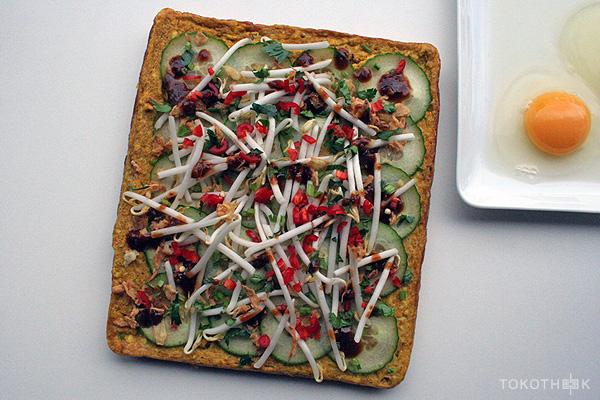 tahoe telor omelet met tahoe