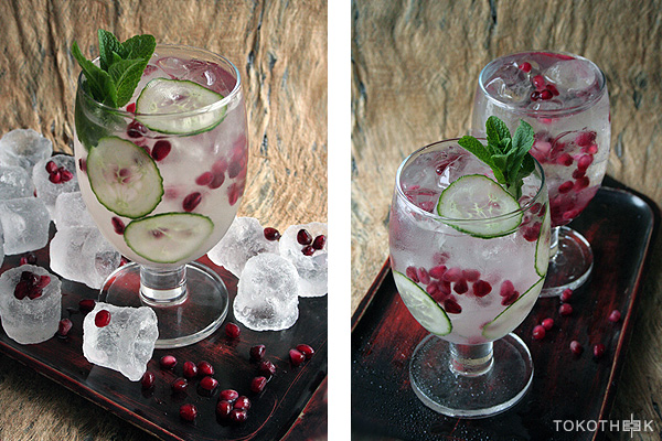 gin tonic met granaatappel
