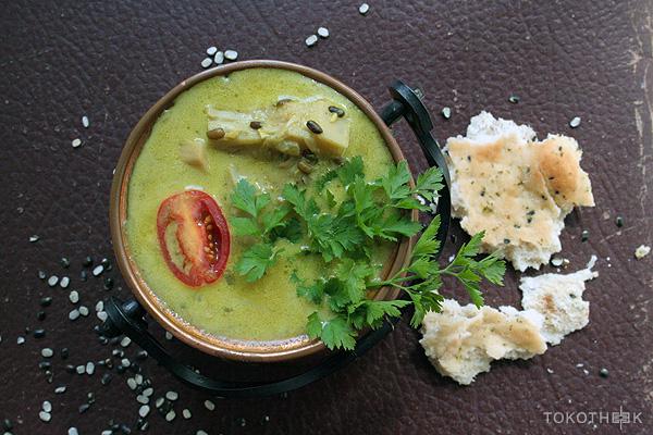 green jackfruit linzen currysoep